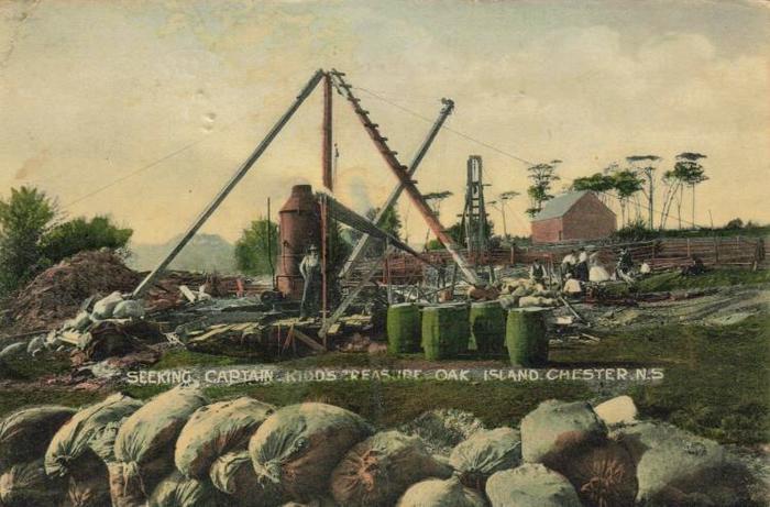 Буровая установка над Денежной шахтой, середина XIX века