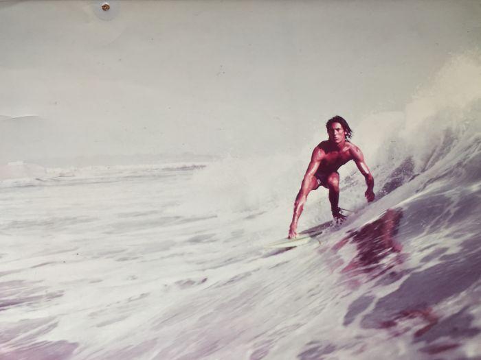 Мой отец, фото для журнала Surfer, Перу, 1977