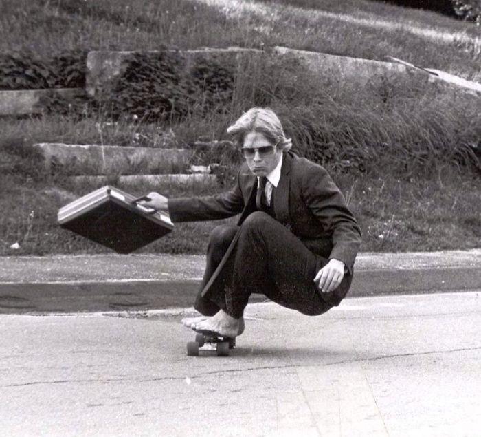 Мой папа на скейтборде в школе Hyde School в 1982