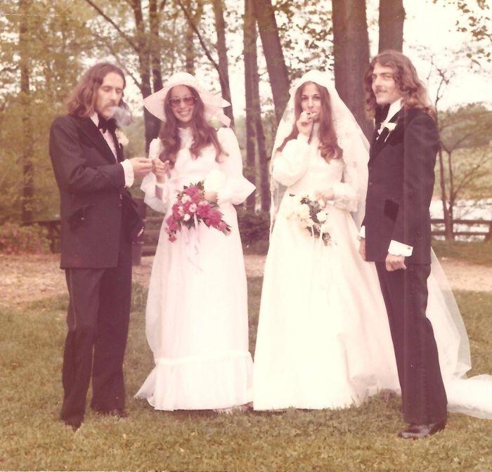 Мой отец и его дяня на своих свадьбах, 1970-е