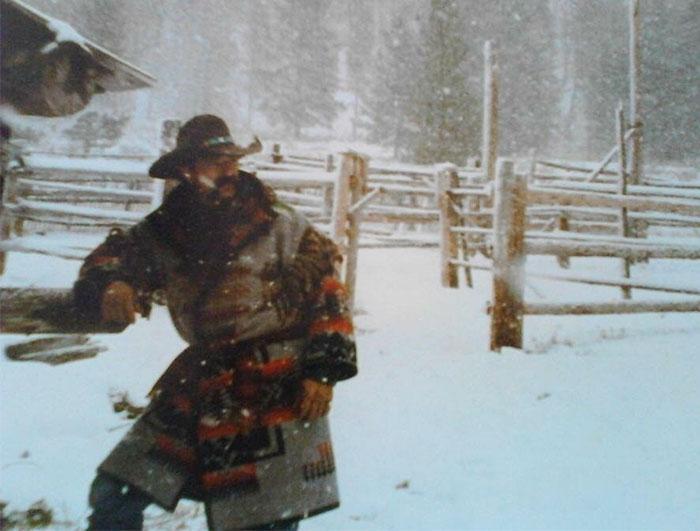 Мой отец в Северной Монтане в 1989