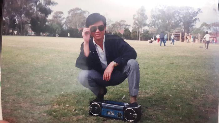 Отец вскоре после переезда из Вьетнама в Австралию в 80-х