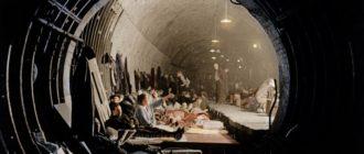 Цветные фотографии Лондонского метро времен Второй Мировой